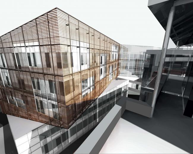 Офисное здание в Бутиковском переулке. 3D модель © АБ Остоженка