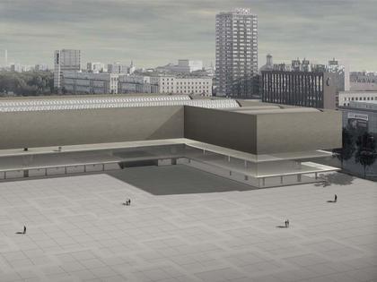 Кристиан Керес. Музей современного искусства в Варшаве. Проект. Общий вид