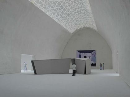Кристиан Керес. Музей современного искусства в Варшаве. Проект. Вид выставочного зала