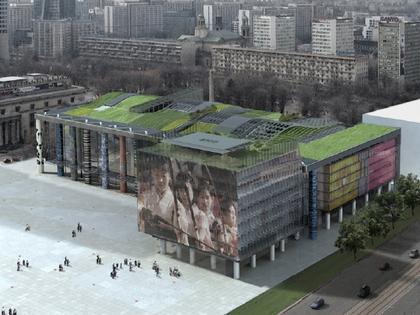 «Szaroszyk & Rycerski». Конкурсный проект Музея современного искусства в Варшаве. 2-е место