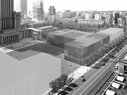 «WW Architekten». Конкурсный проект Музея современного искусства в Варшаве. 3-е место