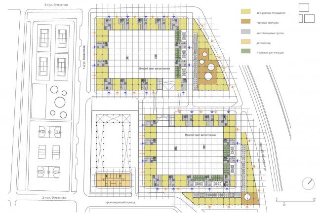 Схема первого этажа © ТПО «Резерв», SPEECH