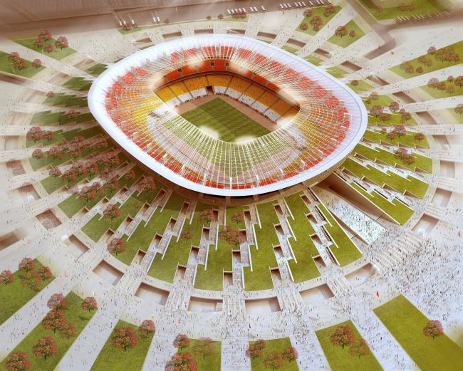 50 Thousand People Football Stadium in Nizhniy Novgorod
