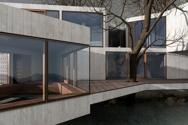 Древесный дом © HHF Architects
