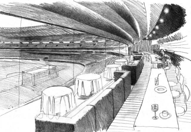 Футбольный стадион на 50 тысяч зрителей в Нижнем Новгороде © Архитектурное бюро «Студия 44»