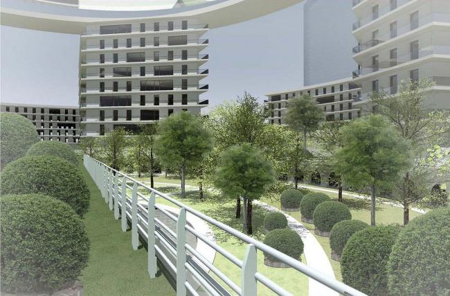 Конкурсный проект многофункционального жилого комплекса в Новосибирске © Архстройдизайн АСД