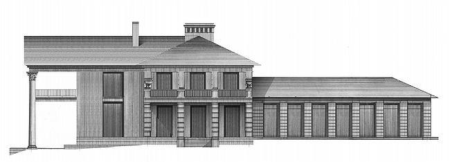 Дом №2. Западный фасад