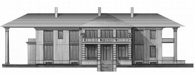 Дом №4. Западный фасад