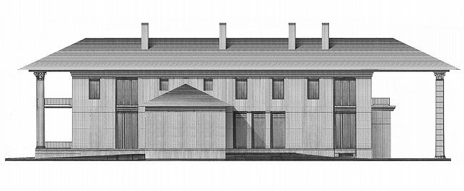 Дом №4. Восточный фасад