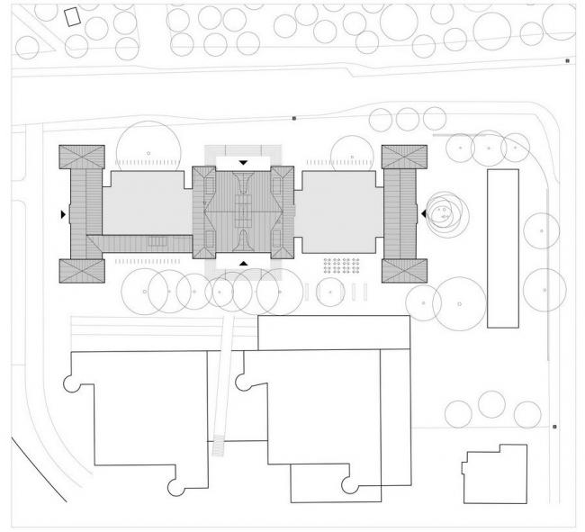 Главный корпус Технического университета Гамбург - Гарбург. Ситуационный план © gmp