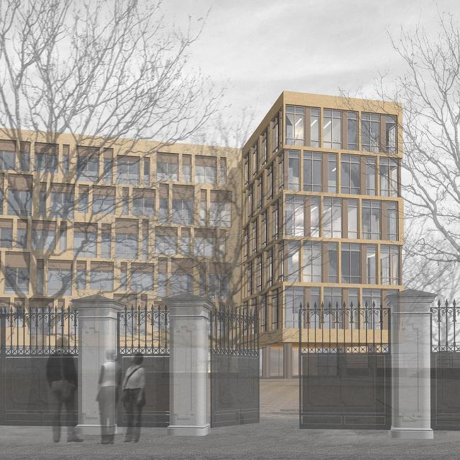 Административно-офисное здание в Гороховском переулке. Проект, 2006 © ADM architects