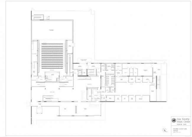 Центр Техасского общества Азии © Taniguchi and Associates