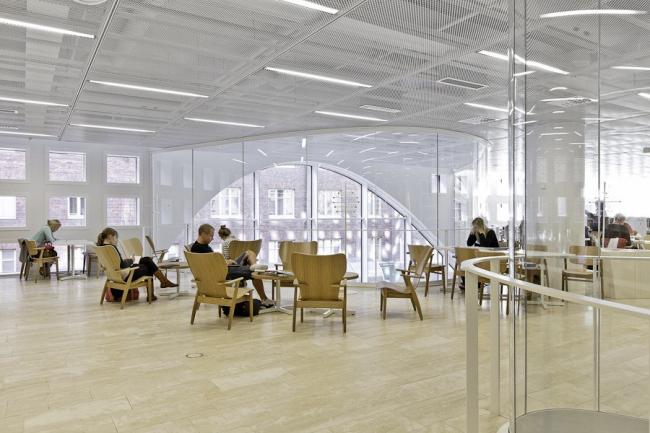 Главная библиотека университета Хельсинки. Фото © Tuomas Uusheimo. Предоставлено Anttinen Oiva arkkitehdit Oy