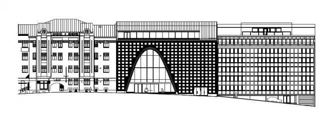 Главная библиотека университета Хельсинки. Предоставлено Anttinen Oiva arkkitehdit Oy