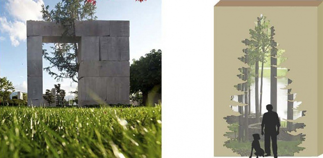 Архитектурно-планировочная концепция благоустройства территории экопосёлка «Полуостров» © Архстройдизайн АСД