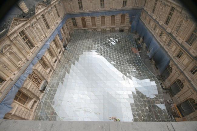 Крыло исламского искусства Лувра в процессе строительства © 2011 Musée du Louvre / Antoine Mongodin