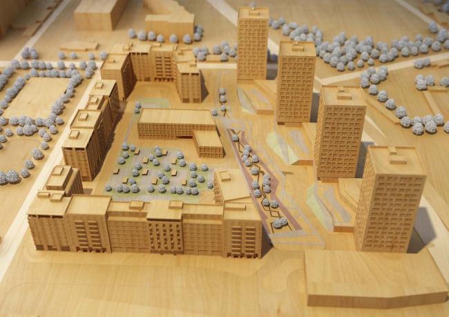 Конкурсный проект жилого комплекса на ул. Бухвостова в Москве © ABD architects