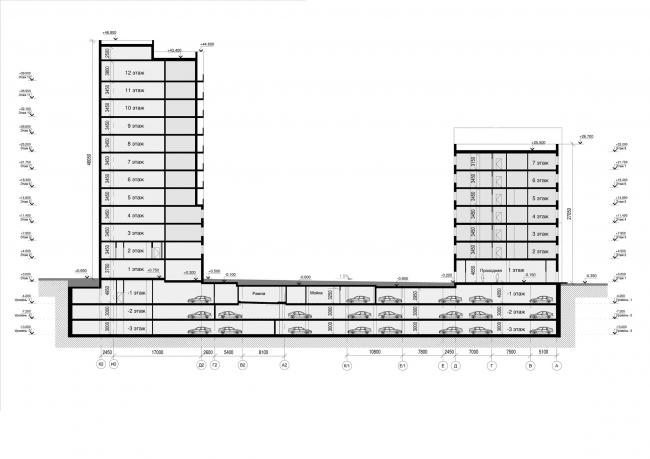 Жилищно-административный центр на Малой Пироговской улице в Москве © Архитектурная мастерская «Группа АБВ»