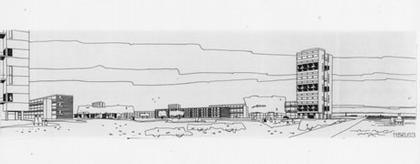 Яап Бакема. Кеннемерланд. 1957-1959. Рисунок из собрания NAI