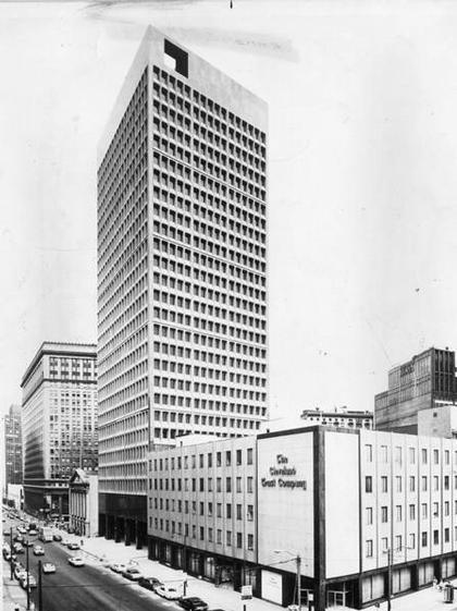 Марсель Брейер. Небоскреб «Ameritrust Tower». Кливленд. 1971. Фото 1970-х гг.