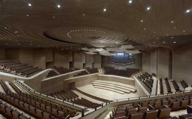 Большой театр в Тяньцзине. Концертный зал. Фото © Christian Gahl. Предоставлено gmp