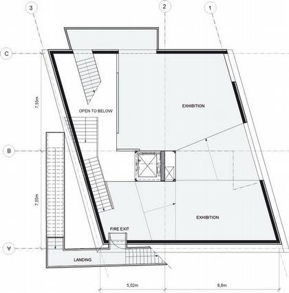 Центр Кнута Гамсуна. План второго этажа