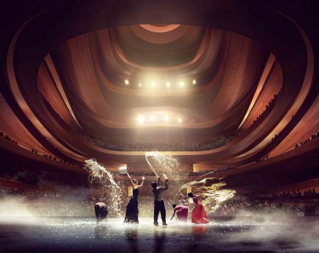 Оперный театр в Пусане. Предоставлено Snøhetta