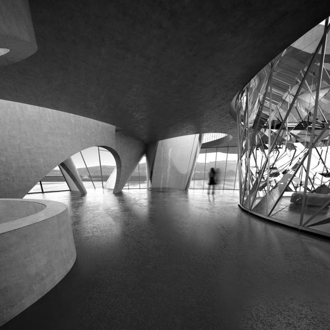 Интерьеры в первом варианте выставочно-делового центра
