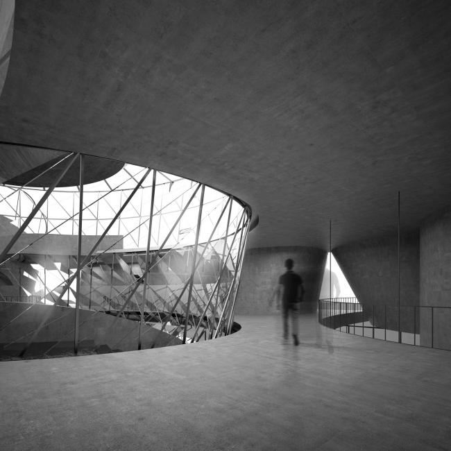 Первый вариант проекта выставочно-делового центра в Сахалине