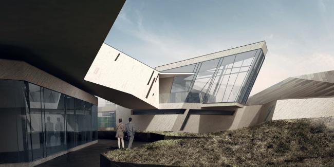 Второй вариант проекта выставочно-делового центра в Сахалине