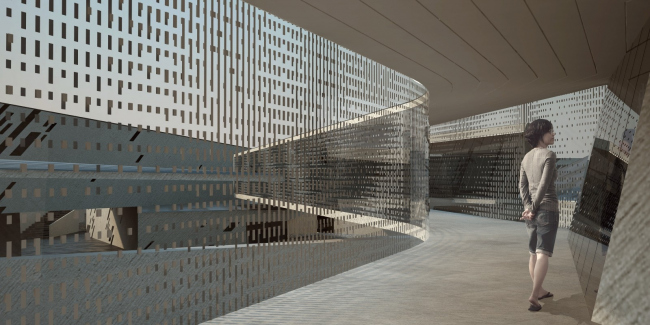 Интерьеры во втором варианте проекта выставочно-делового центра в Сахалине