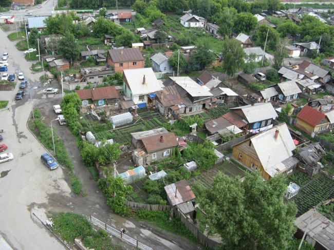 Стихийная малоэтажная застройка в Новосибирске. Фото предоставлено ГК «Метаприбор».