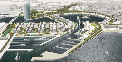 gmp. Конкурсный проект реконструкции района порта Валенсии