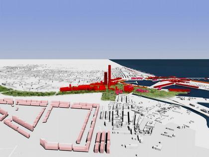 Жан Нувель. Конкурсный проект реконструкции района порта Валенсии