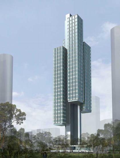 ОМА. Жилой дом Скоттс Тауэрс, Сингапур. Проект