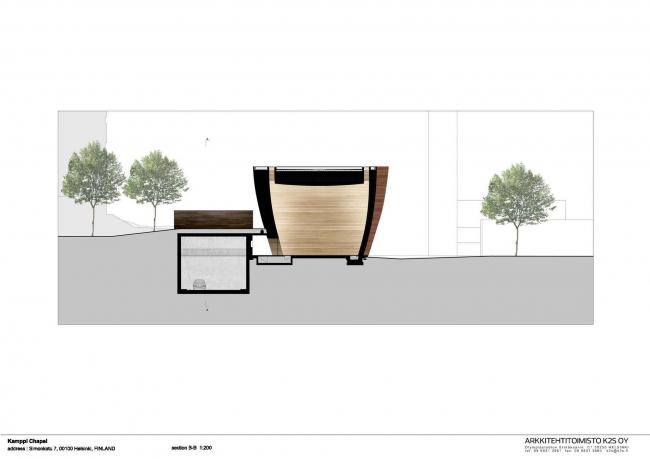 Часовня Камппи © K2S Architects