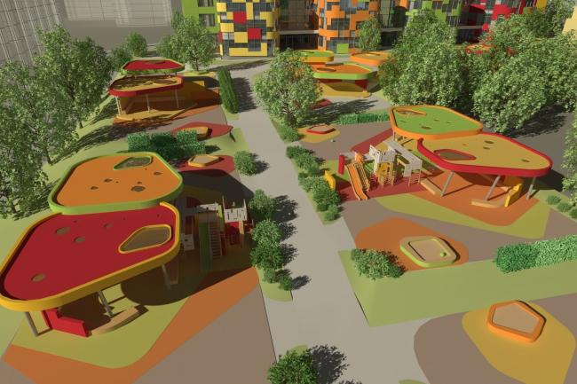 Детские сады в районе Щукино. Двор