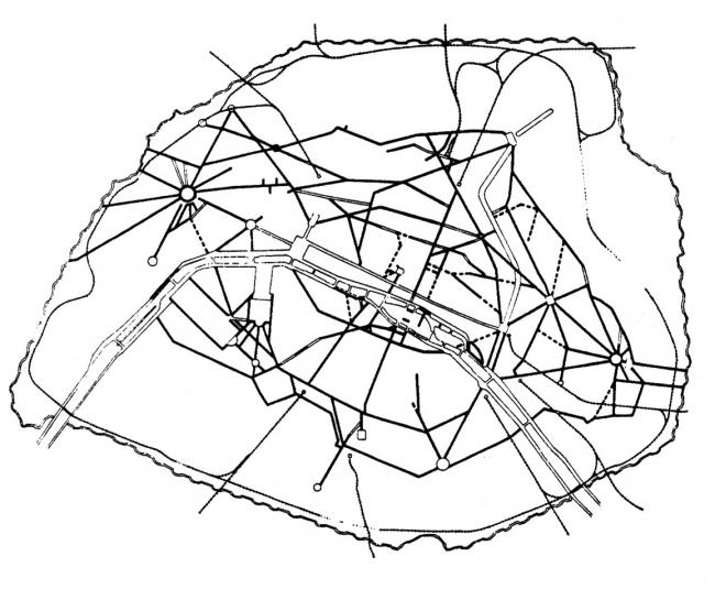 Бульвары Парижа, проложенные в исторической части города по плану Османа.
