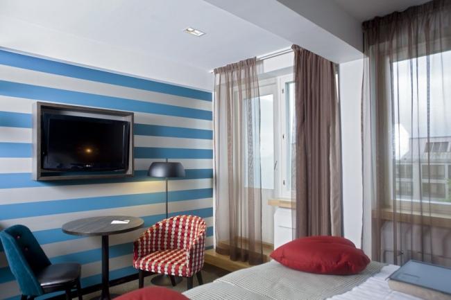 Отель Paasitorni. Номер в стиле 1950-х годов. Дизайн интерьера Stylt Trampoli Ab. Фото: Scandic Hotels