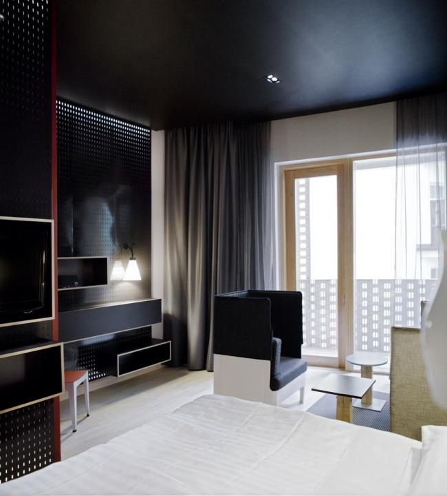 Отель Paasitorni. Номер в стиле 21 века. Дизайн интерьера Stylt Trampoli Ab. Фото: Scandic Hotels