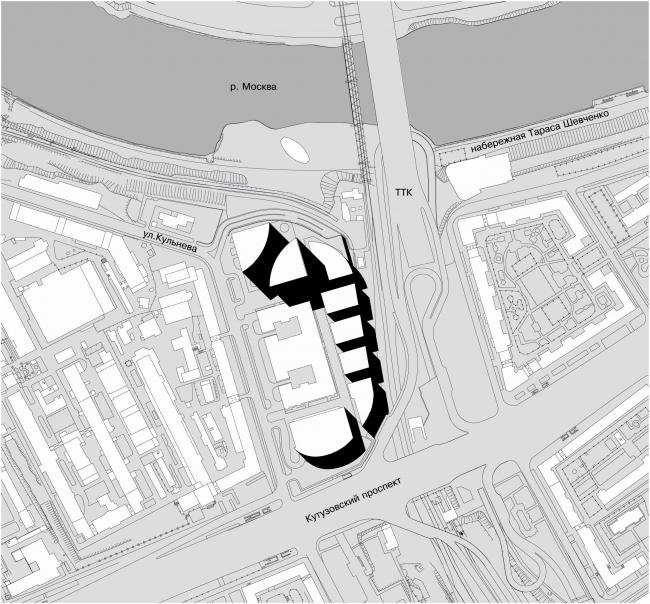 Административно-торговый комплекс на ул. Кульнева. Ситуационный план