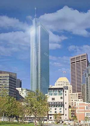 Ренцо Пьяно. Высотное здание. Бостон. Проект