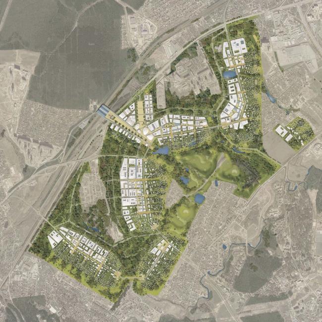 Концепция генерального плана иннограда Сколково, разработанная компанией AREP. Фото: homeland-group.ru