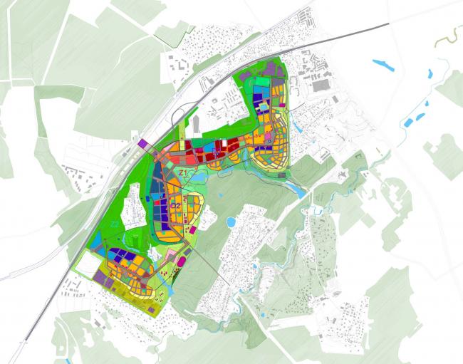 Генеральный план Сколково, разработанный Homeland Group совместно с AREP и Setek.