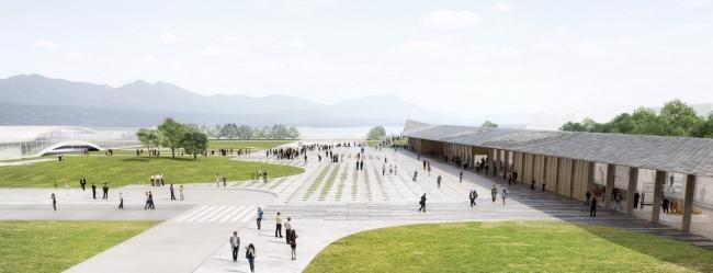 Павильоны Федеральной политехнической школы © Kengo Kuma & Associates