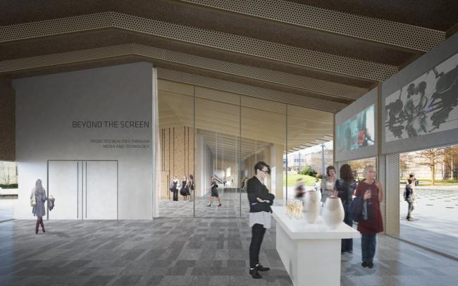 Павильоны Федеральной политехнической школы. Павильон научных выставок © Kengo Kuma & Associates