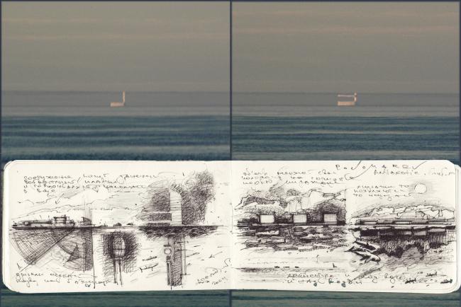 Миражи на горизонте и вдохновленные ими рисунки Александра Пономарева