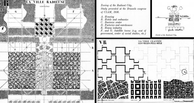«Лучезарный город» Ле Корбюзье, 1930. Иллюстрация с сайта www.studyblue.com