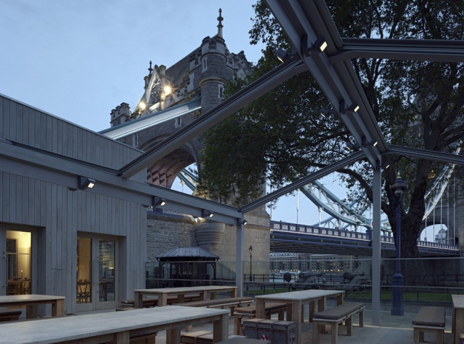 Кафе Tower Wharf Cafe © Peter Cook