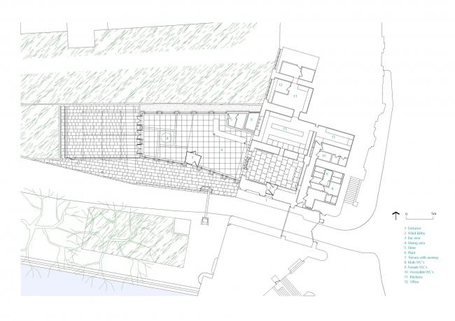 Кафе Tower Wharf Cafe © Tony Fretton Architects